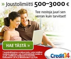 credit24 lainaa joustavasti